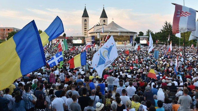I giovani partecipanti al Mladifest del 2019 a Medjugorje