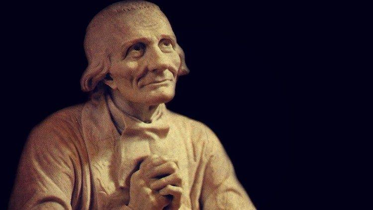 Saint Jean-Marie Vianney, curé d'Ars, né le 8 mai 1786, mort le 4 août 1859.