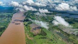 Vue aérienne de l'Amazonie.