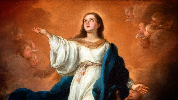 The Assumption of Blessed Virgin Mary, from the Maria shrine of Dallas, US.