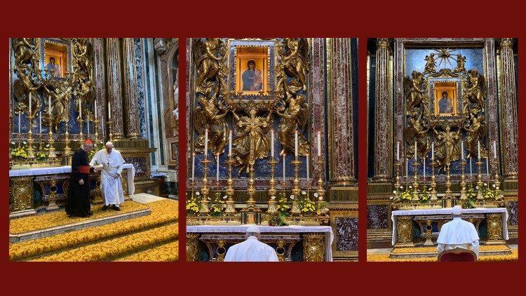 2019.09.03 Papa Francesco visita Santa Maria Maggiore prima del Viaggio in Mozamico, Madagascar e Mauritius