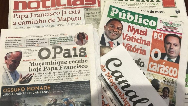Mozambican papers on Pope's visit