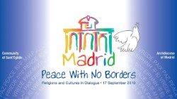 Logo of this year's Prayer for Peace meeting: peace with no borders
