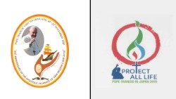 Logos of Pope's Apostolic Visit to Thailand and Japan