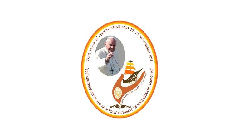 2019.09.13 il logo dell viaggio apostolico del Papa in Thailandia