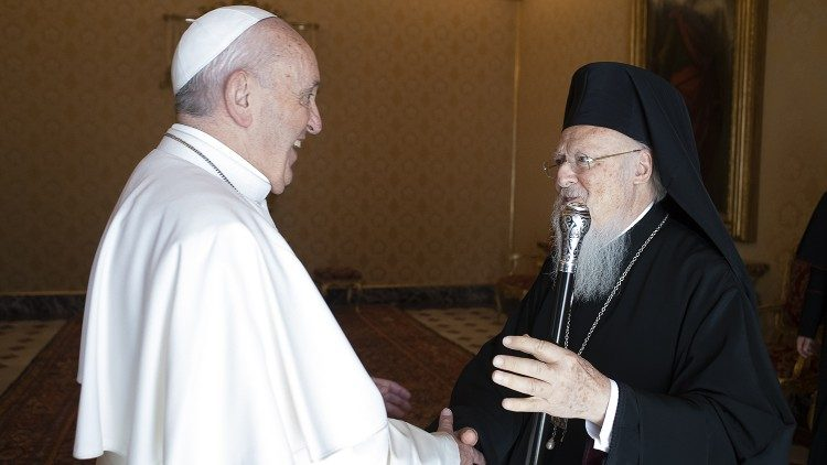 Rencontre entre le Pape François et Bartholomée Ier le 17 septembre 2019
