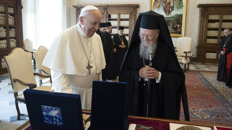 Pope Francis meets with Orthodox Patriarch Bartholomew - Vatican News
