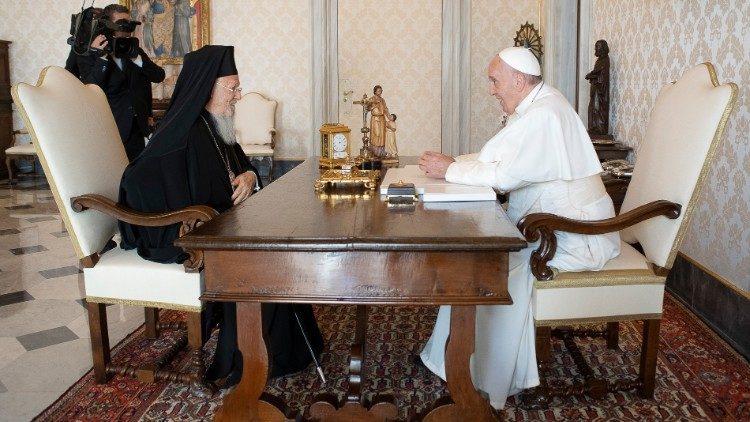 Встреча Папы Франциска с Патриархом Варфоломеем