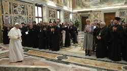 Pope Francis meeting participants in the congress of the Society for the Law of the Eastern Churches.