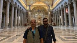 Jenin Job and Antony John in St. Paul's Basilica, Outside the Roman Walls