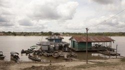 A house along the Amazon River, Peru