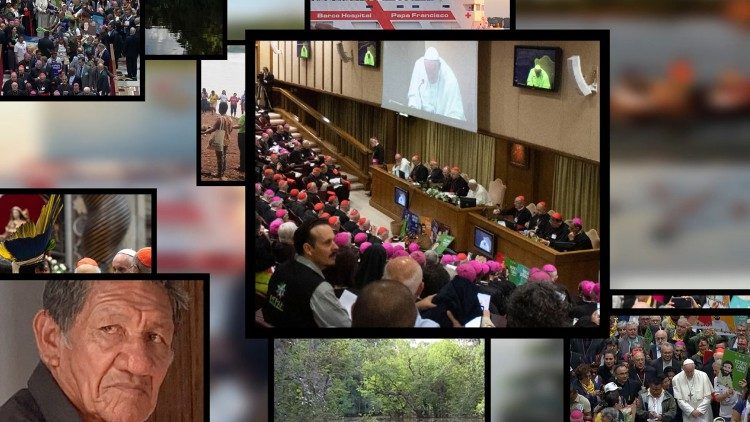 Various moments of the Special Synod of Bishops on the Pan-Amazon Region