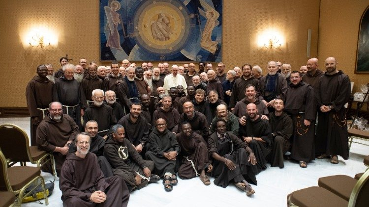 Pope meets Capuchin Friars Minor of the Marches Region