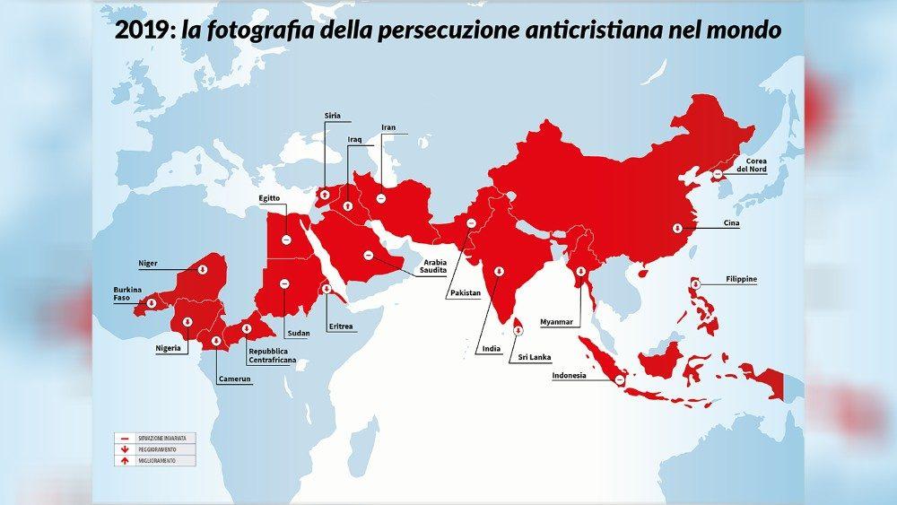 Cartina Del Mondo Con Le Diverse Religioni.Cristiani Perseguitati In Oltre 20 Paesi Del Mondo La Denuncia Nel Rapporto Di Acs Vatican News