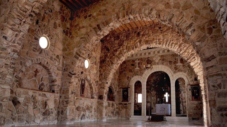 The church of Mar Elian Monastery in Qaryateyn, Syria