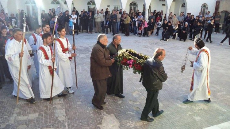 Holy Friday celebration at Mar Elian in Syria