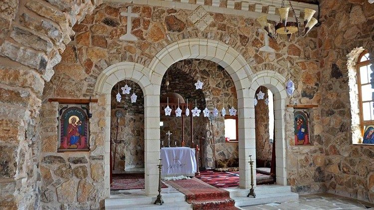 The altar of the Mar Elian monastery church