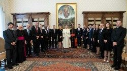 Pope Francis with the members of the Council for Inclusive Capitalism.