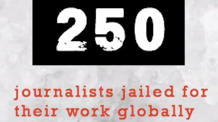 250 journalists jailed in 2019