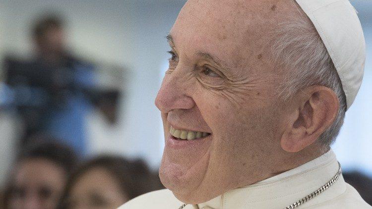 Le Pape François durant sa visite pastorale à Frosinone le 24 septembre 2019.