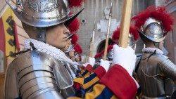 Guardias suizos. Conmemoración del saqueo de Roma, 6 de mayo de 1527