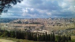 The holy city of Jerusalem.
