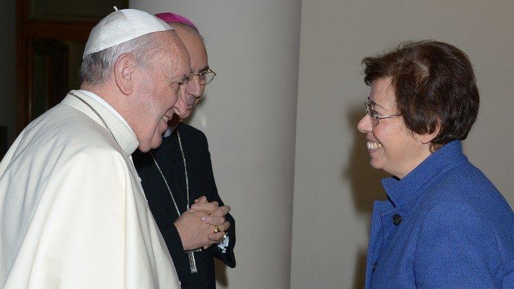 Papež Frančišek s Francesco Di Giovanni, podtajnico v državnem tajništvu