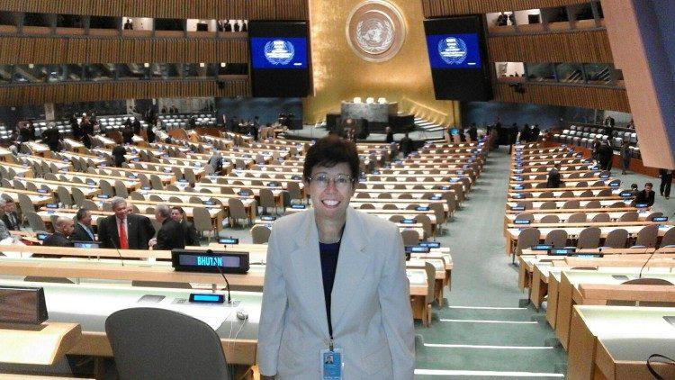 Francesca Di Giovanni, nova podtajnica Oddelka za odnose z državami, v dvorani OZN