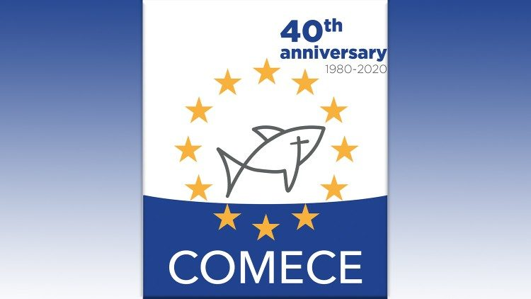 Logo, 40 years of COMECE