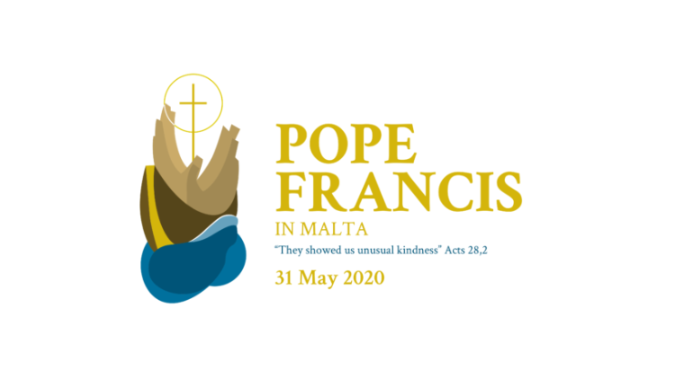 Logo and motto of Pope Francis' visit to Malta.