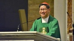 Cardinal Luis Antonio Tagle celebrating his last Mass as Archbishop of Manila, February 9, 2020.