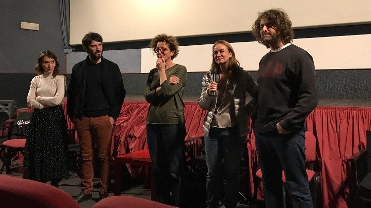 The presentation of the documentary in Rome