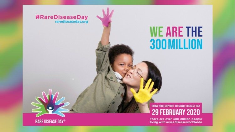 A poster for Rare Disease Day , Feb. 29, 2020.