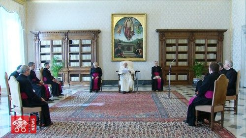 Pope Francis' General Audience for 11 March 2020 was livestreamed from the Apostolic Library