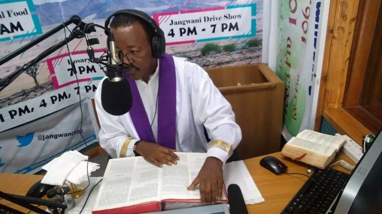 Fr. Racho Ibrahim of Radio Jangwani, Diocese of Marsabit, Kenya. The Catholic radio station is one of Vatican Radio's partners in Africa