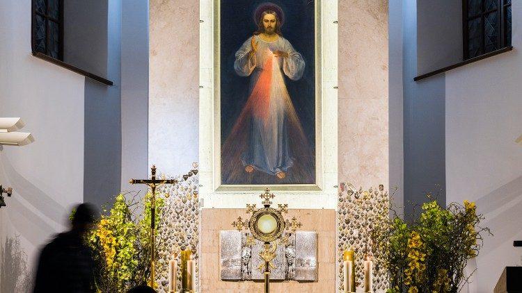 Az Irgalmas Jézus képe Vilniuszban