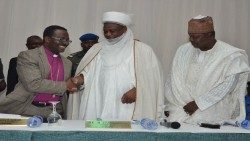 Nigerian Interreligious Council (NIREC) Co-Chairmen, Pastor Samson Ayokunle and Sultan of Sokoto, Muhammadu Sa'adu Abubakar