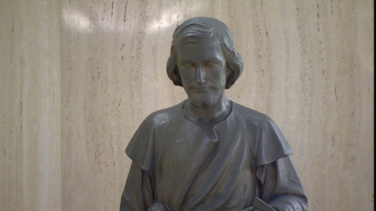 Statue of St. Joseph the Worker in the Casa Santa Marta