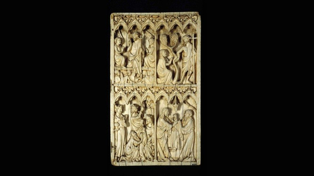 Carver from southern Germany; Right panel of a diptych with a scene of the Resurrection, Noli me tangere, Epiphany, Presentation in the Temple; ivory; second half of the 16th century; Vatican Museum, Apartment di St Pius V, © Musei Vaticani