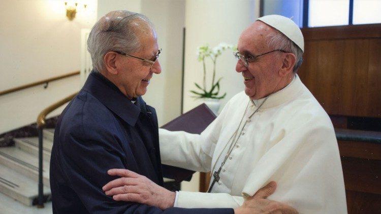 Fr. Adolfo Nicolás SJ and Pope Francis