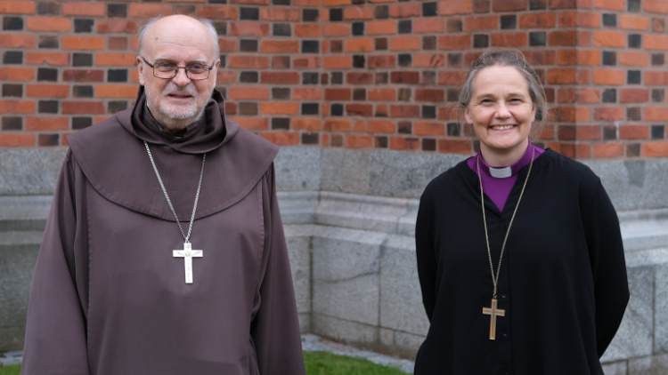 Cardinal Anders Arborelius and Karin Johannesson