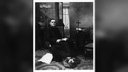 Sudio photo of Fr. Michael McGivney by John Tierney. Photo credit Knights of Columbus