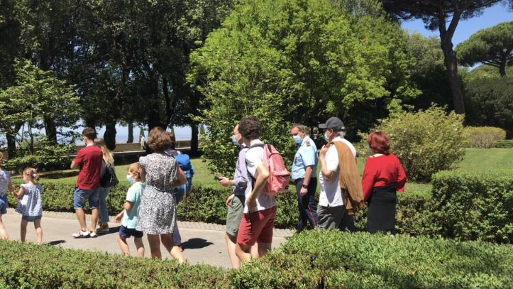Jardines en las Villas Pontificias de Castel Gandolfo.
