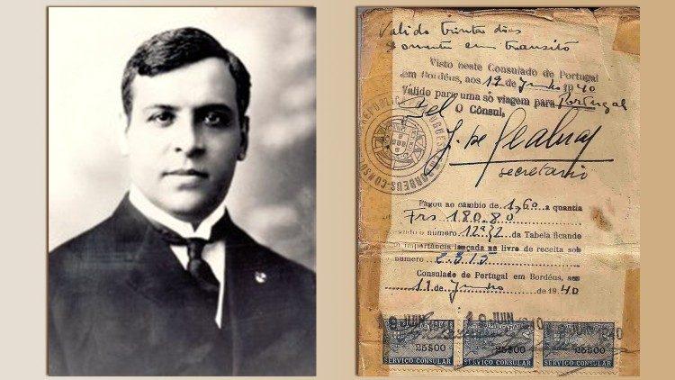 Il diplomatico portoghese Aristides de Sousa Mendes e un visto concesso nel 1940