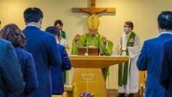 Cardinal Andrew Yeom Soo-jung celebrated Mass for Catholic members of South Korea's National Assembly on July 10, 2020.