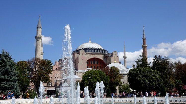 A view of Hagia Sophia in Istanbul, Turkey