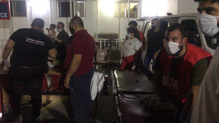 Caritas Lebanon is providing emergency relief in the wake of Tuesday's devastating explosion in Beirut