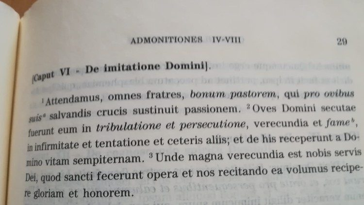 Latin version of St. Francis' Admonitions