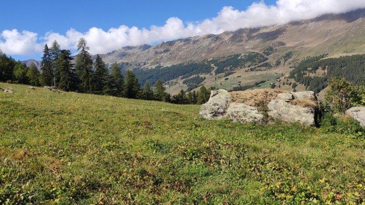 2020.09.13 Valle d'Aosta, Italia. Monte Rosa. Ambiente, ecologia, natura, tempo del creato, Laudato si
