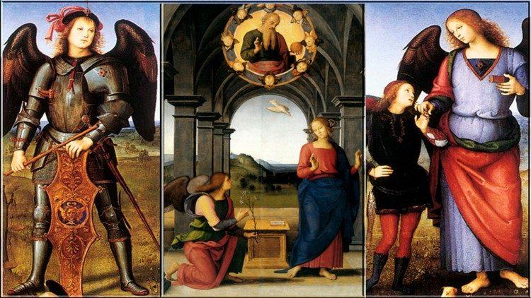 Les archanges Gabriel, Michel et Raphaël sont présentés dans la Bible comme des envoyés célestes, pour délivrer un message de Dieu.